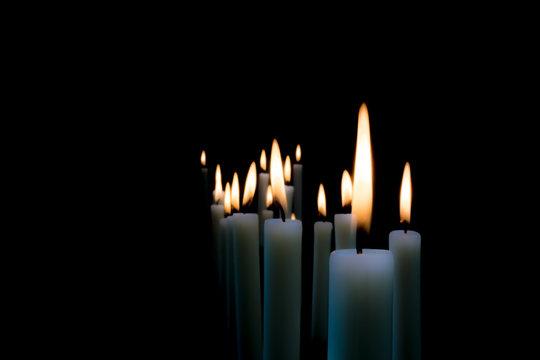 Kerzenschein - Trauerkarte