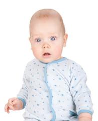 Cute serious baby boy