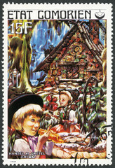 COMORES - 1976: shows Hansel and Gretel, series Fairy Tales
