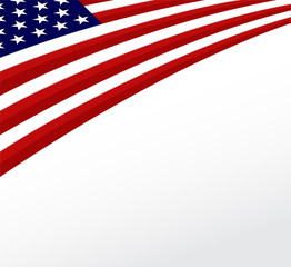 USA flag. United States flag background. Vector