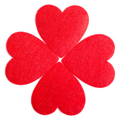 Red hearts isolated on a white background