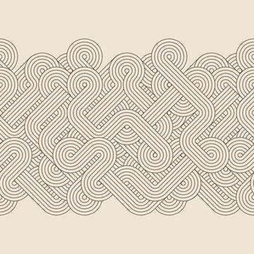 Seamless abstract retro border