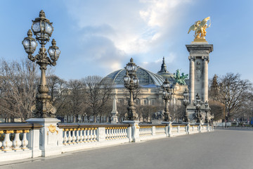 Paris France Pont Alexandre III Fototapete