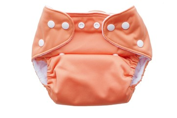 fabric washable diaper with snaps