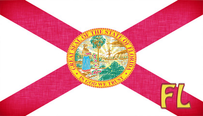 Linen flag of the US state of Florida