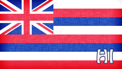 Linen flag of the US state of Hawaii