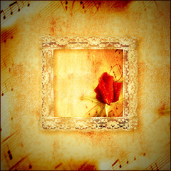 vintage card romantic music