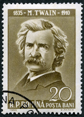 ROMANIA - 1960: shows Mark Twain (1835-1910)