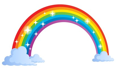 Canvas Prints For Kids Image with rainbow theme 1