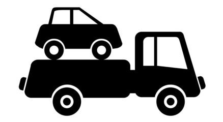 Abschleppen Dienstleistung Schild Verkehr
