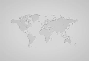 Poster Carte du monde World map