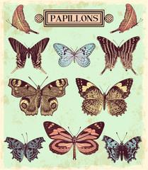 Wall Mural - Les papillons