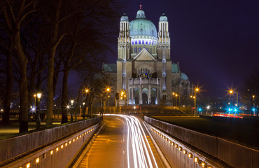 View of the Basilica of the Sacred Heart in Brussels