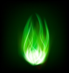 toxic green fire flame burning background