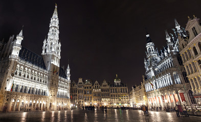 Keuken foto achterwand Brussel Panoramic View of Grand Place in Brussels