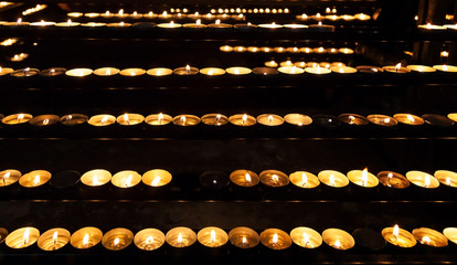 Burning candles in the St. Stephan cathedral