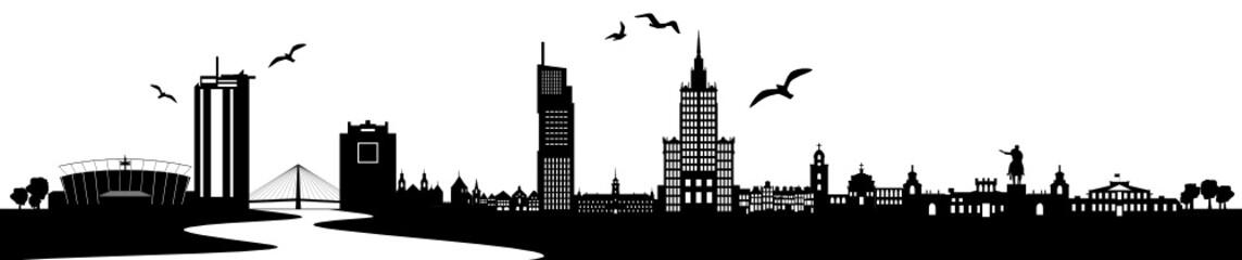 Skyline Warschau Weichsel