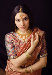 sweet indian girl in sari