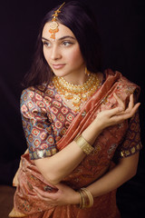 sweet indian girl in sari