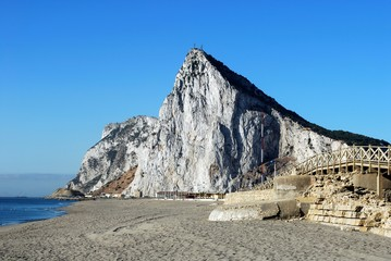 Beach and Rock of Gibraltar © Arena Photo UK