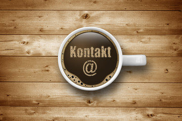 Kaffeetasse mit Kontakt