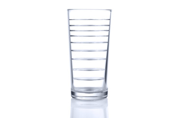 Glass with many levels of water. Multiply image