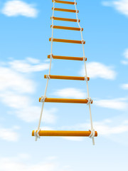 escape ladder Stairway to Heaven on a white background