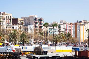 La Barceloneta district.  Barcelona