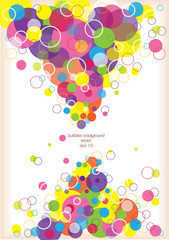 abstract vector bubbles background