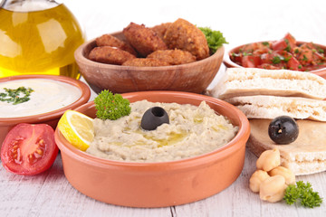 assorted of mezze