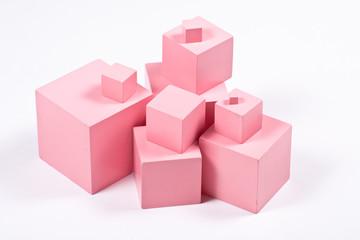 Montessori Pink Cubes