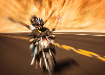 Wall Mural - Abstract photo of riders