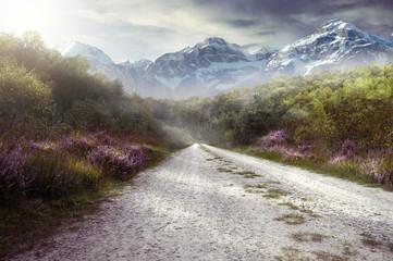 Spoed Fotobehang Grijs Pictorial Landscape