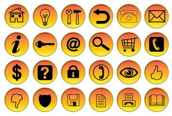 Set icone-bottoni web