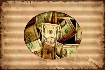 Fond de hotte en verre imprimé Affiche vintage Vintage Label - Dollar I