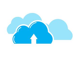 Cloud upload symbol