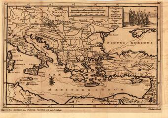 Mediterranian vintage map