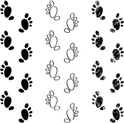 Black footprints