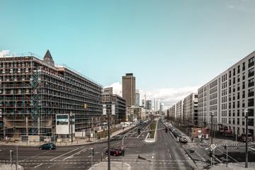 City Stadt Ansicht auf Straßenkreuzung