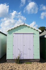 Beach Hut at West Mersea, Essex, UK.