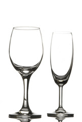 Canvas Prints Bar Empty wine glass and champagne glass