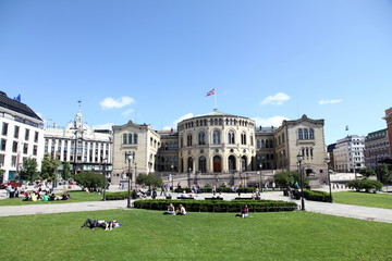 The Parliament Building, Oslo, Norway