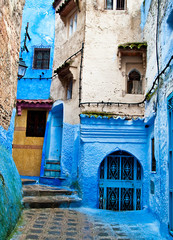 Architectural details and doorways of Morocco.