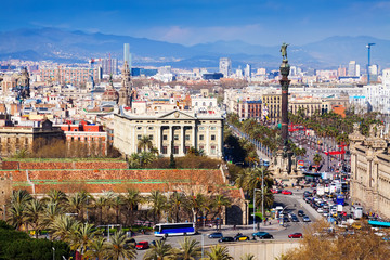 Barcelona city from Montjuic