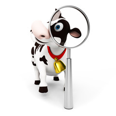 Photo sur Plexiglas Ferme 3d rendered toon character - funny cow