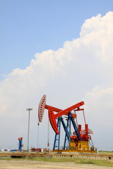 oil pumping unit in working in china