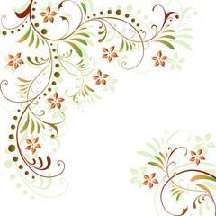 herbst, abstrakt, floral, flora, blatt, blätter, vektor, vorlage
