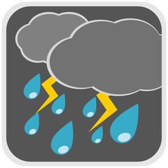 Rain storm weather illustration