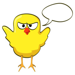 cartoon chicken yellow angry