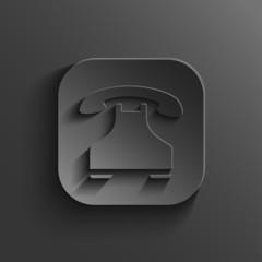 Phone icon - vector black app button